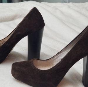 Michael Kors brown suede shoes pumps sz 5
